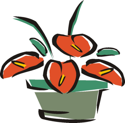 Clipart Flower Outline. free Flowers Clip Art.